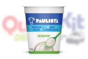 PAULISTA IOGURTE NATURAL 150G DESNATADO - <b>CAIXA COM 20 UNIDADES</b>