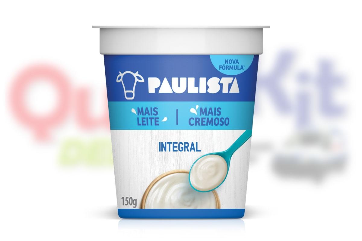 PAULISTA IOGURTE NATURAL 170G TRADICIONAL - <b>CAIXA COM 20 UNIDADES</b>
