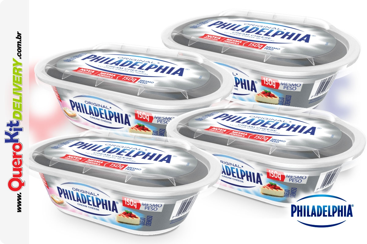 *PHILADELPHIA <b>CREAM CHEESE 150G ORIGINAL</b> C/ 4 UNIDADES