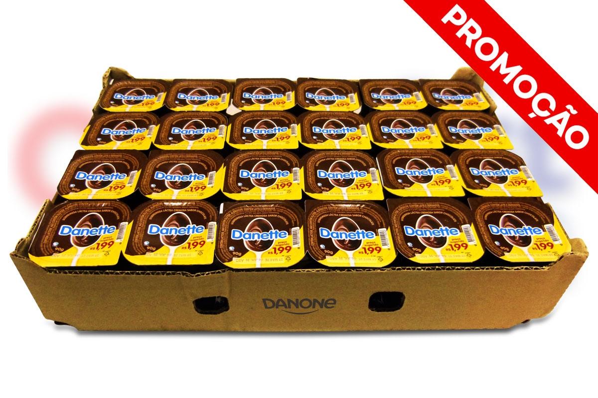 ----DANETTE SOBREMESA 90G CHOCOLATE - <b>CX C/ 48 UNIDADES</b>