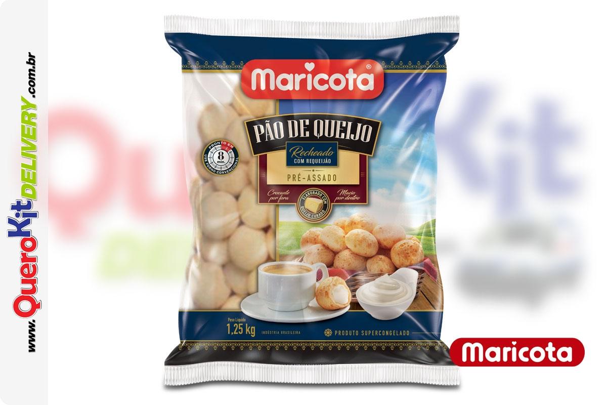 MARICOTA <b>PÃO DE QUEIJO RECHEADO REQUEIJÃO 25G</b> - PACOTE C/ 50 UNIDADES (1,25KG)