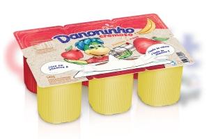 DANONINHO POLPA X6 / 540G MORANGO E BANANA - <b>CAIXA COM 10 UNIDADES</b>