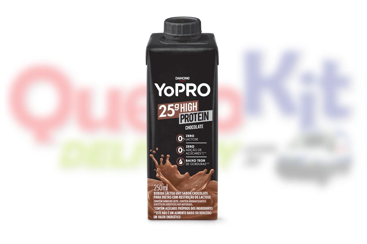 ---YOPRO <b>MILK SHAKE 250G CHOCOLATE COM 25G DE PROTEÍNA</b> - CAIXA COM 24 UNIDADES - PROMO RETIRADA PAG A VISTA DE 119,76 POR R$71,76/CX