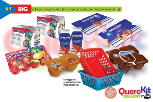 *<b>KIT BIG </b> C/ 40 UNIDADES + 1 POTE QUADRADO 1300ML DECORADO