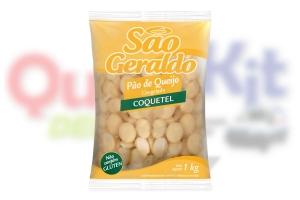 SÃO GERALDO <b>PÃO DE QUEIJO COQUETEL 12,5G</b> - PACOTE C/ 80 UNIDADES (1KG)
