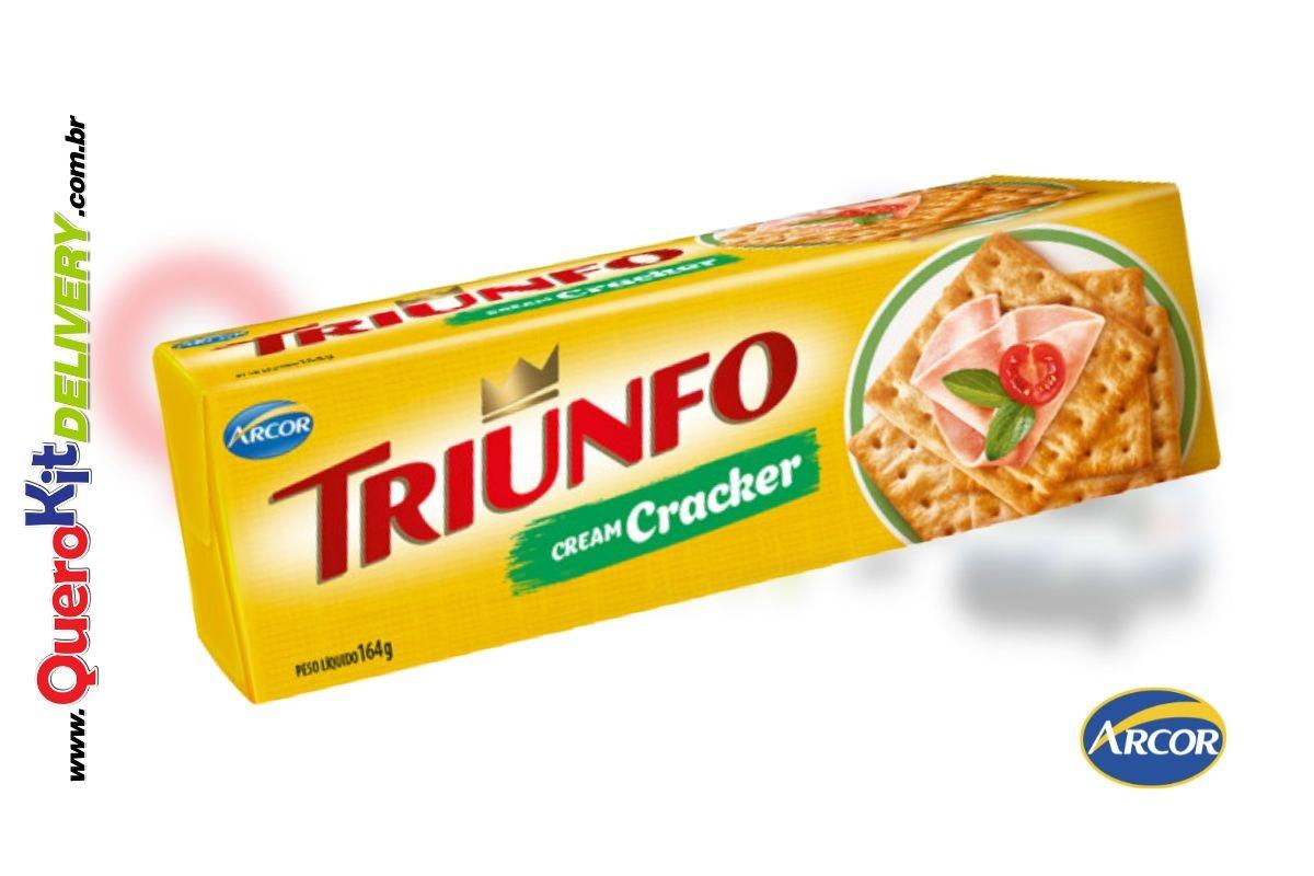 ARCOR <b>TRIUNFO BISCOITO 200G CREAM CRACKER</b> - CAIXA COM 40 UNIDADES