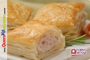FORNO DE MINAS <b>FOLHADO PERU COM QUEIJO BRANCO 40G</b> - PACOTE C/ 24 UNIDADES (960G)