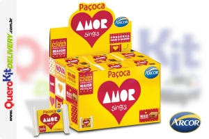 ARCOR <b>PAÇOCA AMOR 18G AMENDOIN</b> - DISPLAY COM 30 UNIDADES